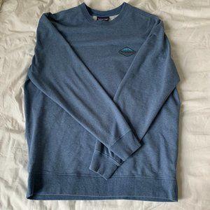 Patagonia Logo Crewneck Sweatshirt - Blue - Large